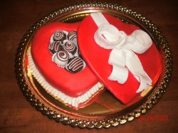 Sweet Valentine's day cake