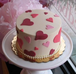 Love cake for Valentine's day