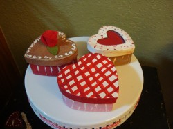 Three cakes for Valentine's day