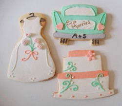 Wedding bride cookies