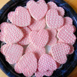 Wedding heart shape cookies