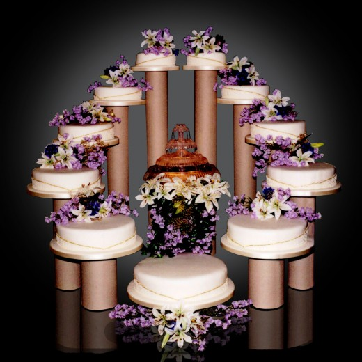 11 tier quinceanera cake
