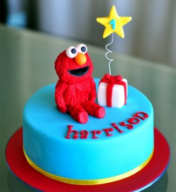 1st birthday Elmo cake