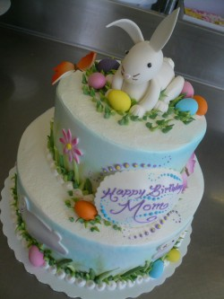 2 tier Easter bunny cake