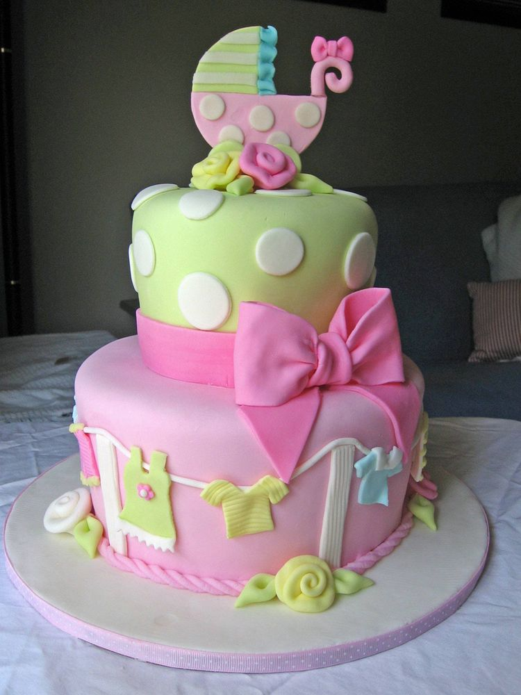 2 Tier Baby Shower Cakes Part - 31: Cake Images