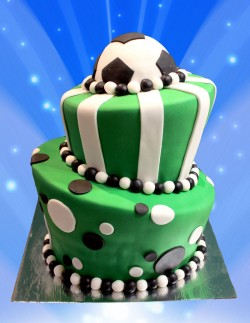 2 tier birthday cake football