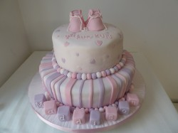 2 tier Christening cake for girl