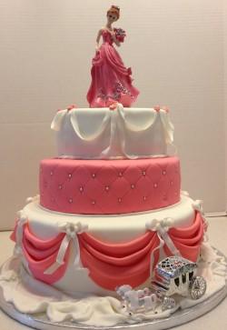 3 tier quinceanera cake