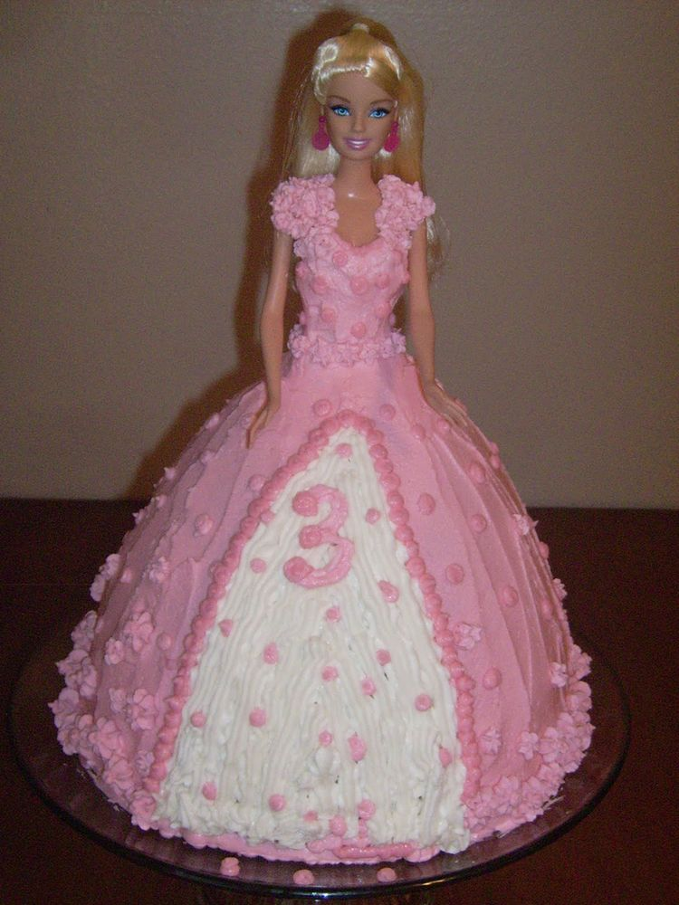3td Birthday Barbie Cake