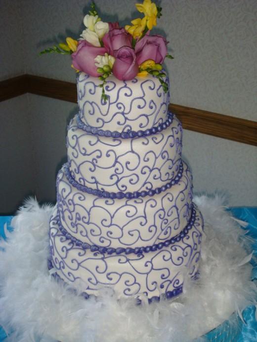4 tier quinceanera cake