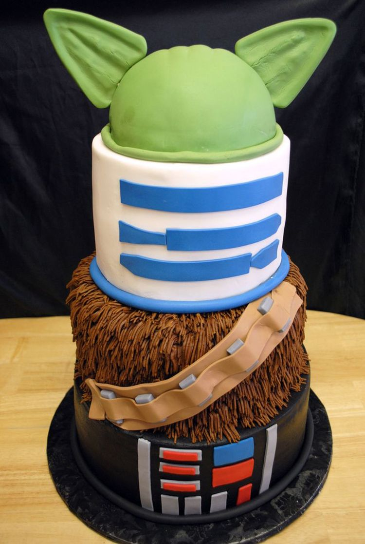 Images Of A Star Wars Cake : 4 tier star wars cake