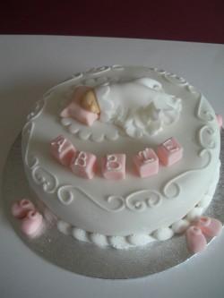 Christening cake for Abbie