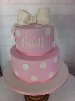 Christening cake for Addi