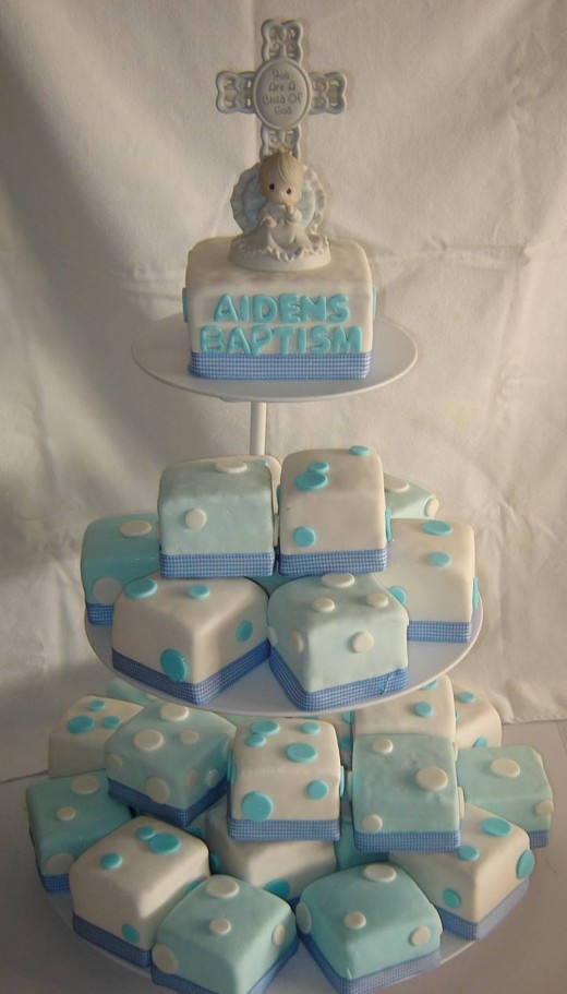 Baptism cake for Aiden