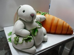 Amazing fondant Bunny cake