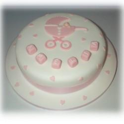 Christening cake for Amelia