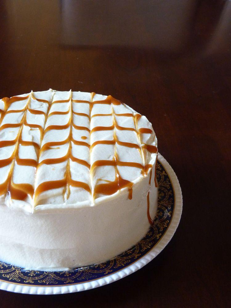 Birthday cake with caramel