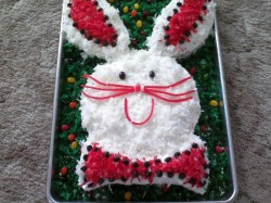 Bunny cake with coconut