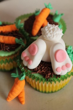 Bunny in the Easter cupcake