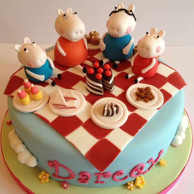 Daddy Pig Birthday Cake