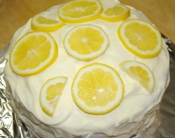 Cake with fresh lemons