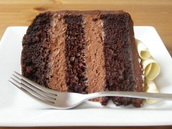 Chocolate mousse cake's slice