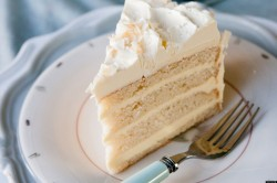 Coconut cake's slice