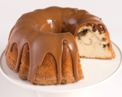 Coffee cake with chocolate