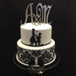 Cricut engagement cake