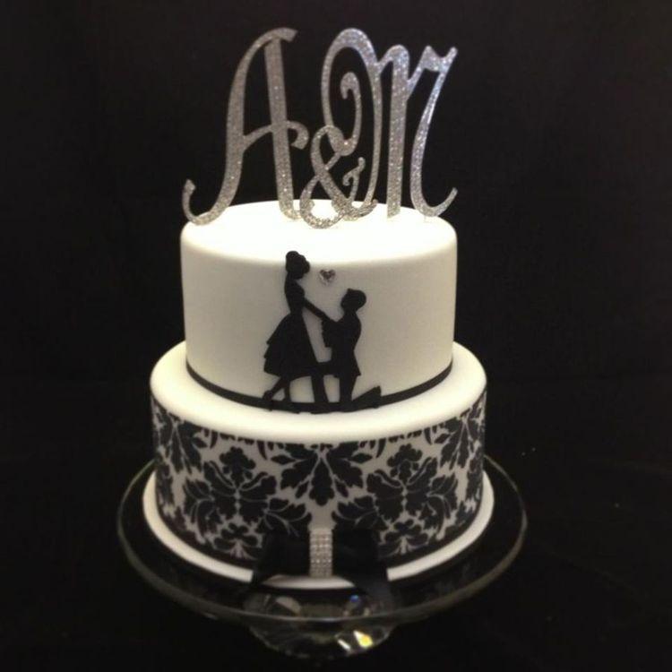 Cricut engagement cake