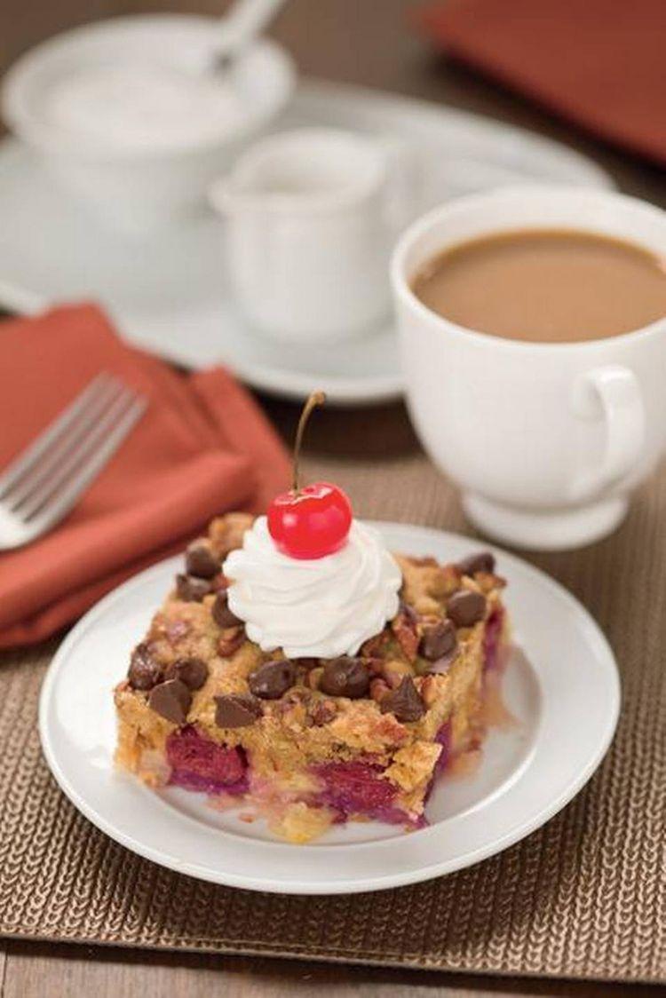 Dump cake with cherry