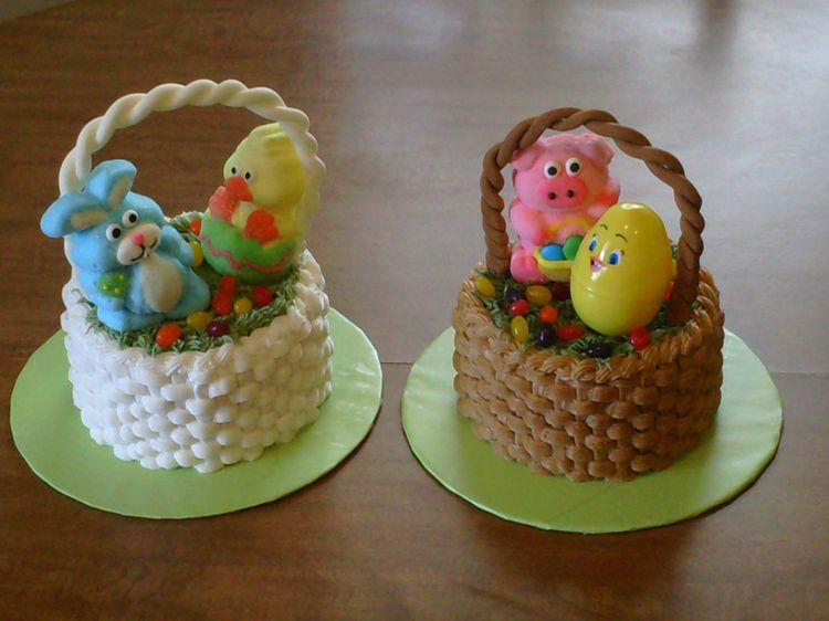 Cakes easter basket negle Images
