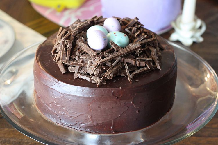 Easter Cake Chocolate Decoration Idea