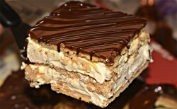 Square slice of Eclair cake