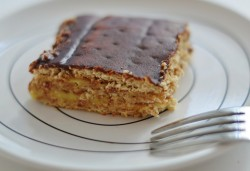 Eclair cake with chocolate layer