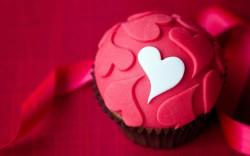 Fondant Valentine's day cupcake