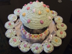 Huge Easter cupcake
