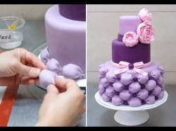 Easy way to decorate cake