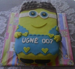 Minion cake for girl's 7th birthday (2015 February)