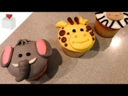 How to make cupcake's toppers – amazing animal :)