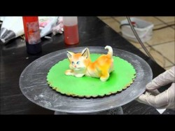 Decorating Cat from Cream