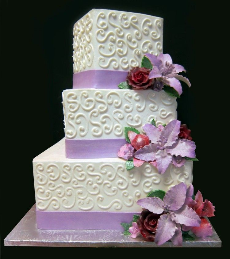 square three tier wedding cakes 3 tier square wedding cake 20372