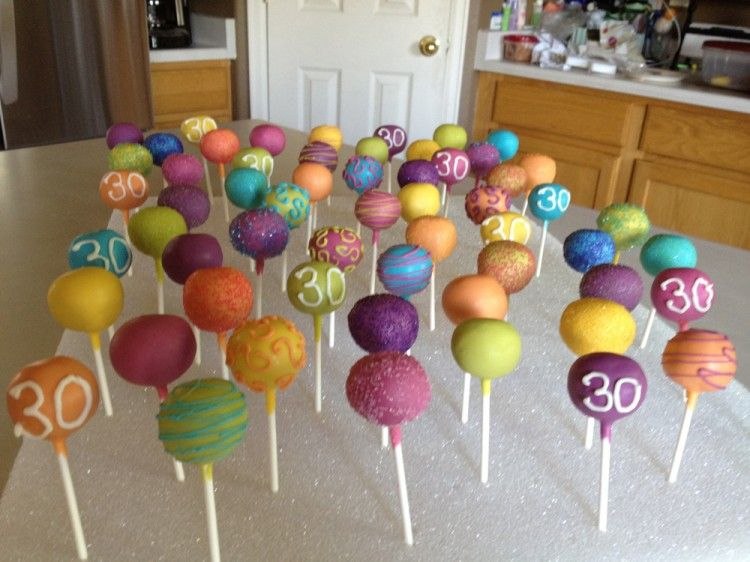 Th Birthday Cake Pops - Cake pop birthday cake