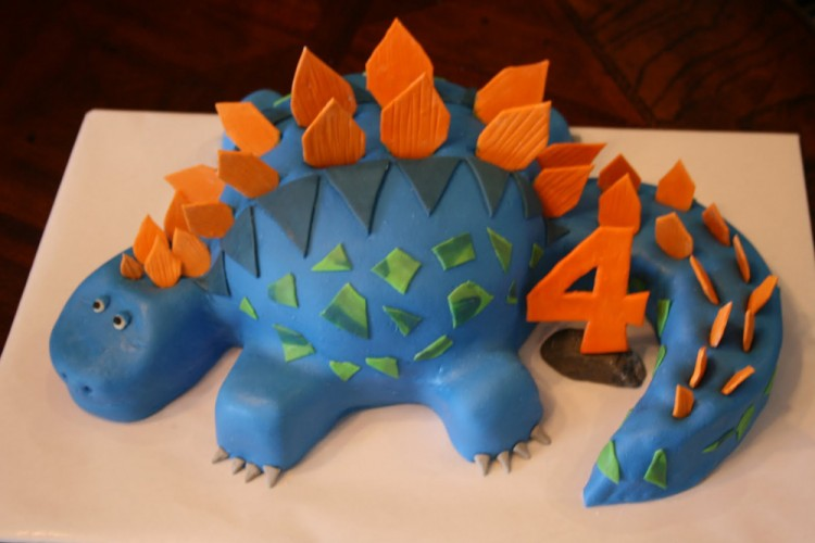 4th Birthday Cake Dinosaur