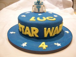 4th birthday cake star wars