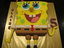 5th birthday Spongebob cake