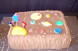 5th birthday cake planets