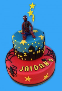 5th birthday cake with Spiderman