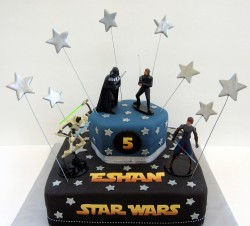 5th birthday star wars cake
