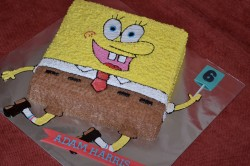 6th birthday Spongebob cake